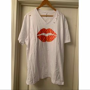 Louis Vuitton Distressed Lips Tee